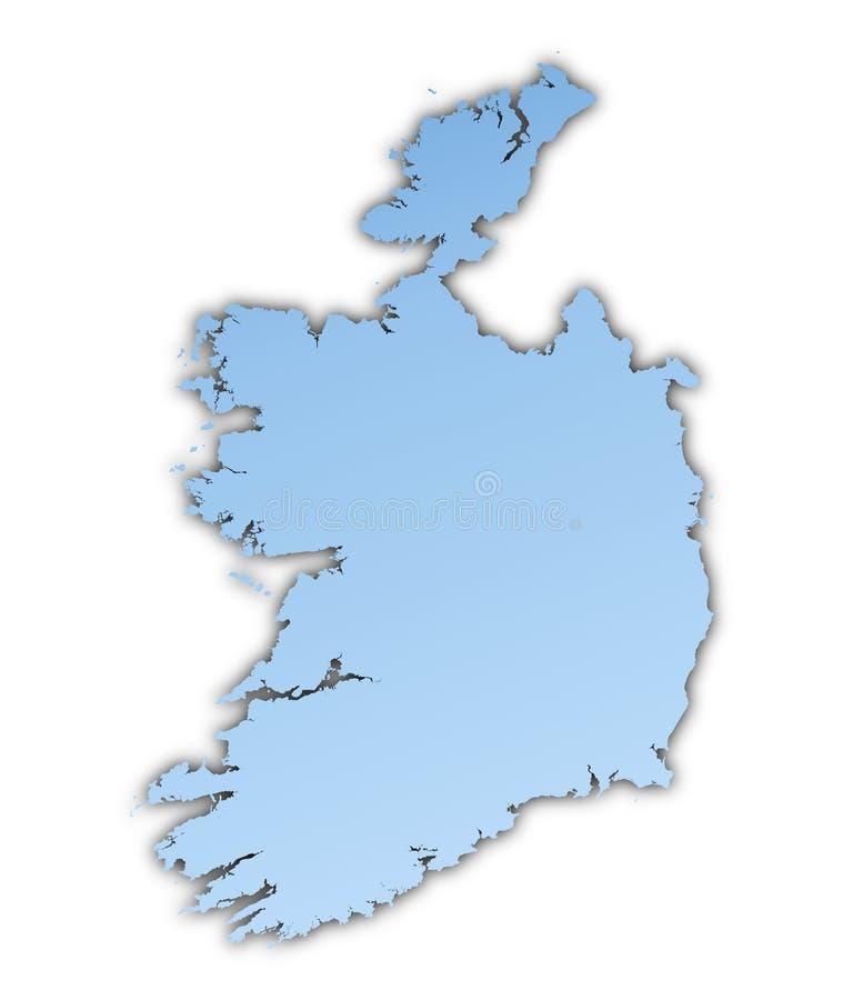 爱尔兰映射 库存例证