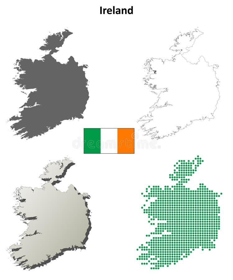 爱尔兰概述地图集合 皇族释放例证