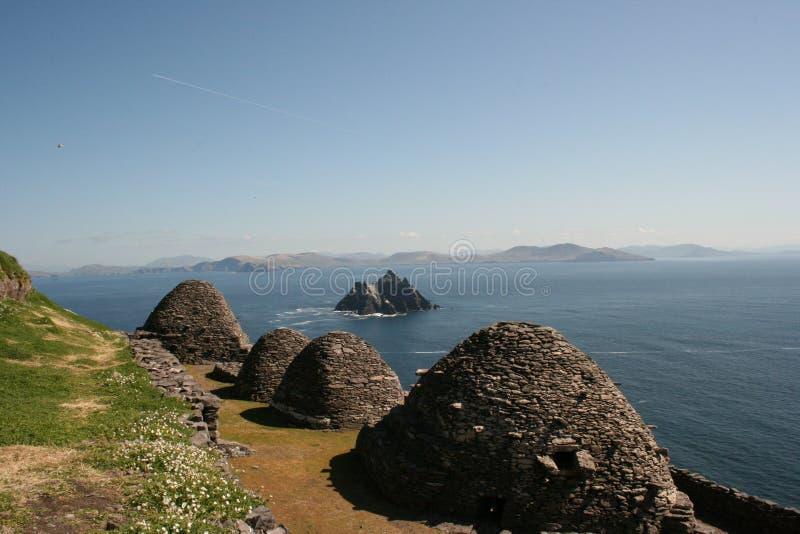 爱尔兰海岛凯利skellig 库存照片