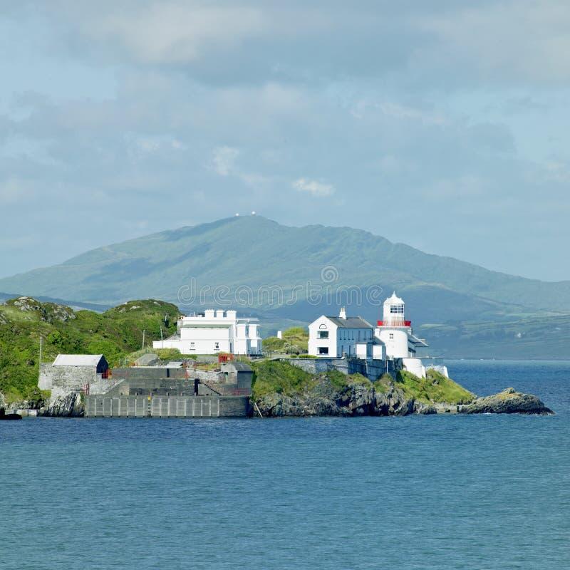 爱尔兰灯塔 库存照片