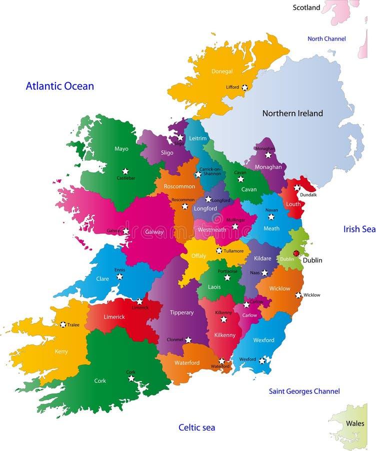 爱尔兰的映射 皇族释放例证