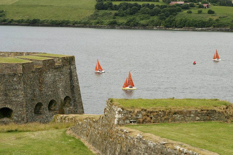爱尔兰种族风船 免版税库存图片