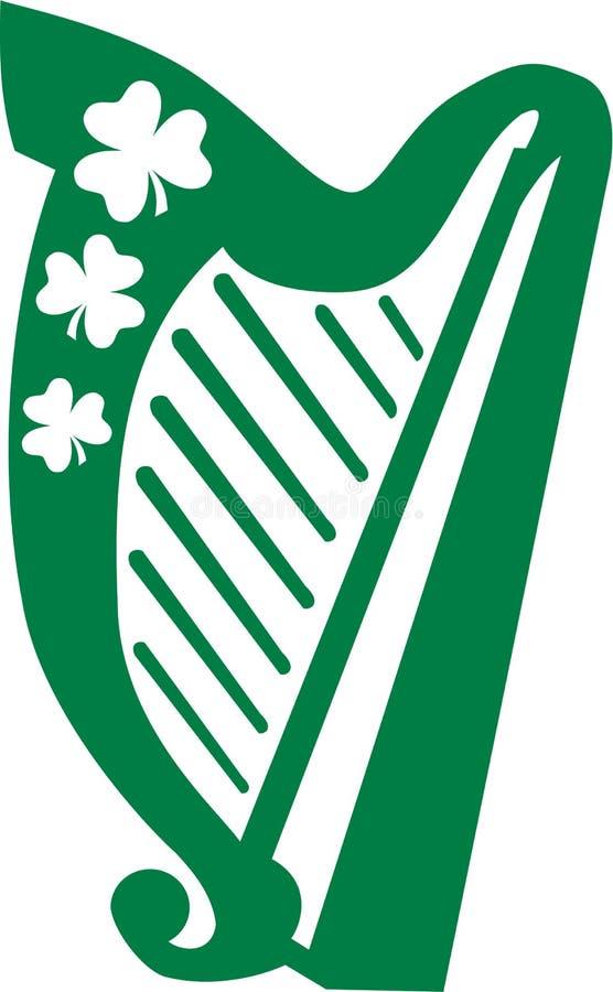爱尔兰竖琴音乐 库存例证