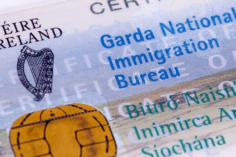 爱尔兰签证/GNIB 库存图片