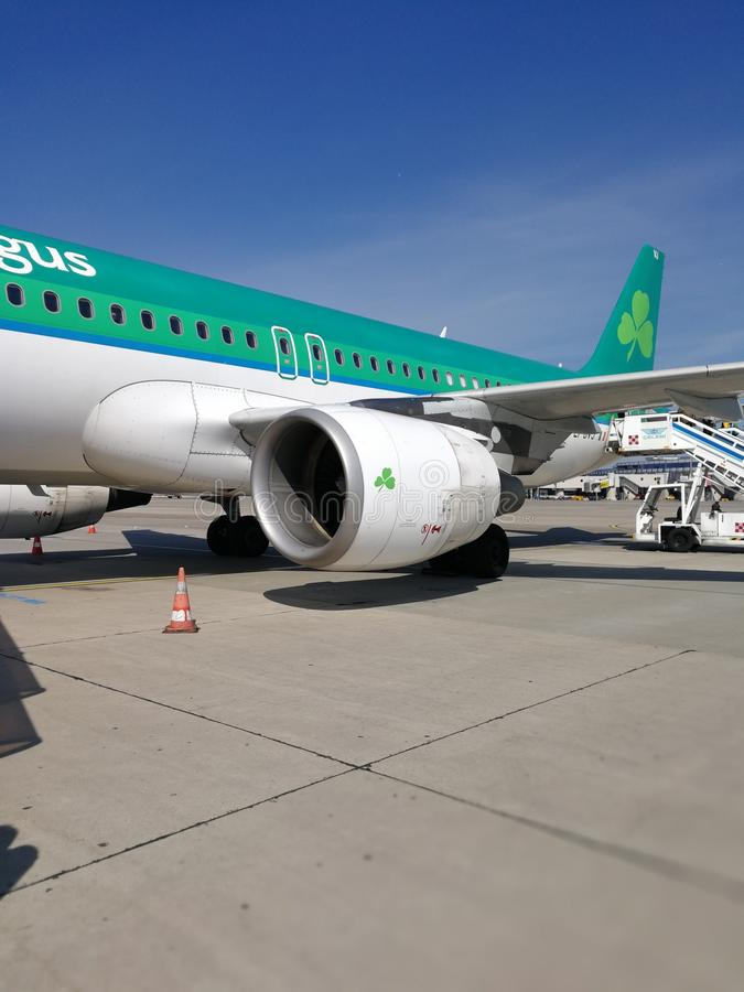 爱尔兰航空路向都伯林 免版税库存图片