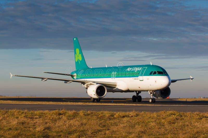 A20爱尔兰航空 免版税图库摄影