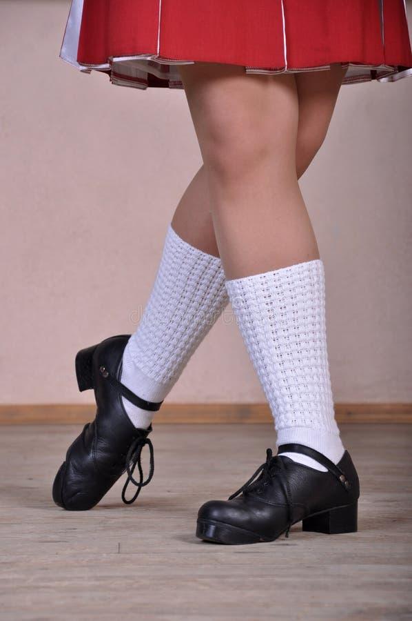 爱尔兰语舞蹈演员的英尺 库存图片