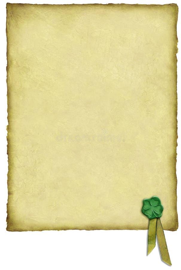 爱尔兰运气羊皮纸 向量例证