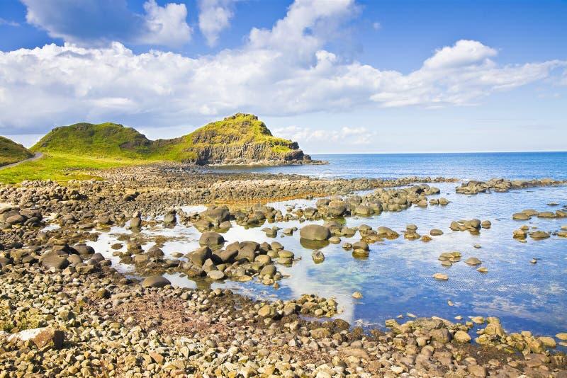 爱尔兰风景在北爱尔兰安特里姆郡-团结的国王 免版税库存照片