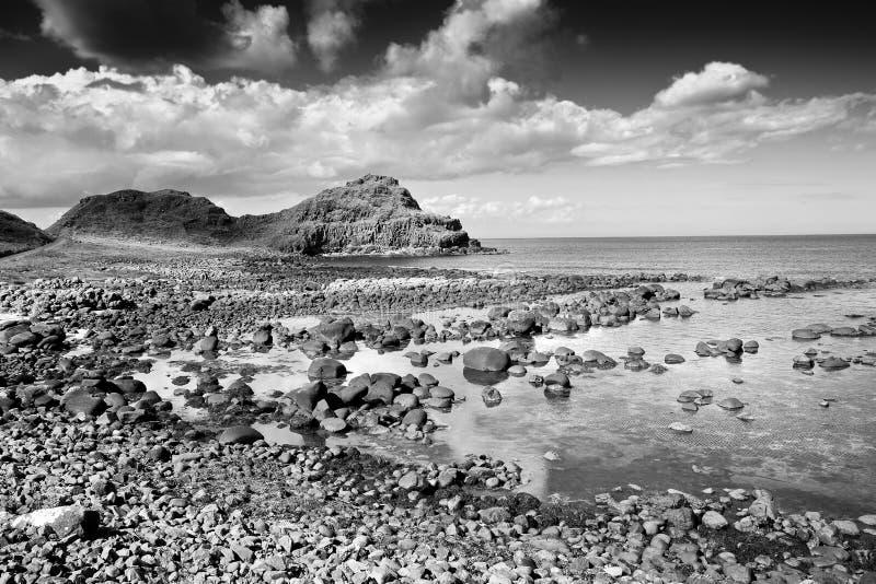 爱尔兰风景在北爱尔兰安特里姆郡-英国 免版税库存照片