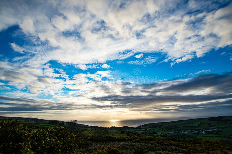 爱尔兰风景 库存照片