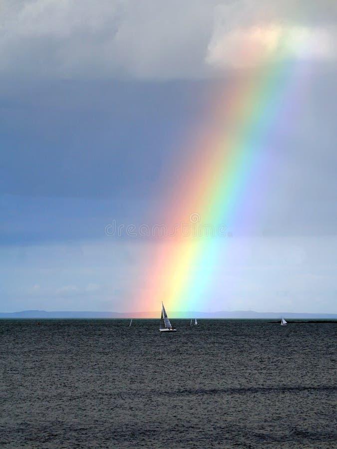 爱尔兰,彩虹土地  库存照片