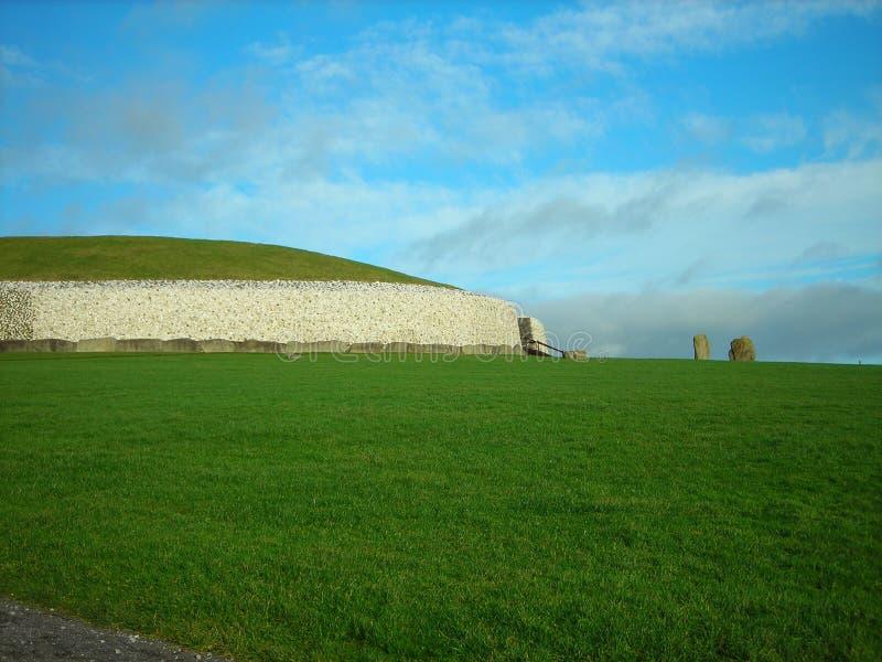 爱尔兰newgrange 库存图片