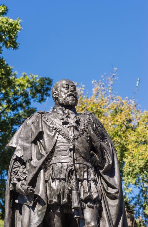 爱德华七世国王雕象胸象在霍巴特,澳大利亚 图库摄影