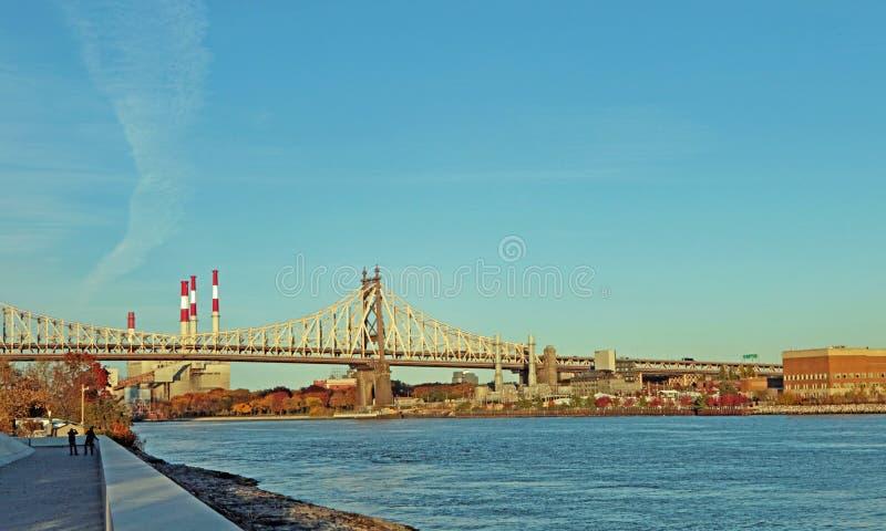 爱德Koch皇后区大桥 免版税图库摄影