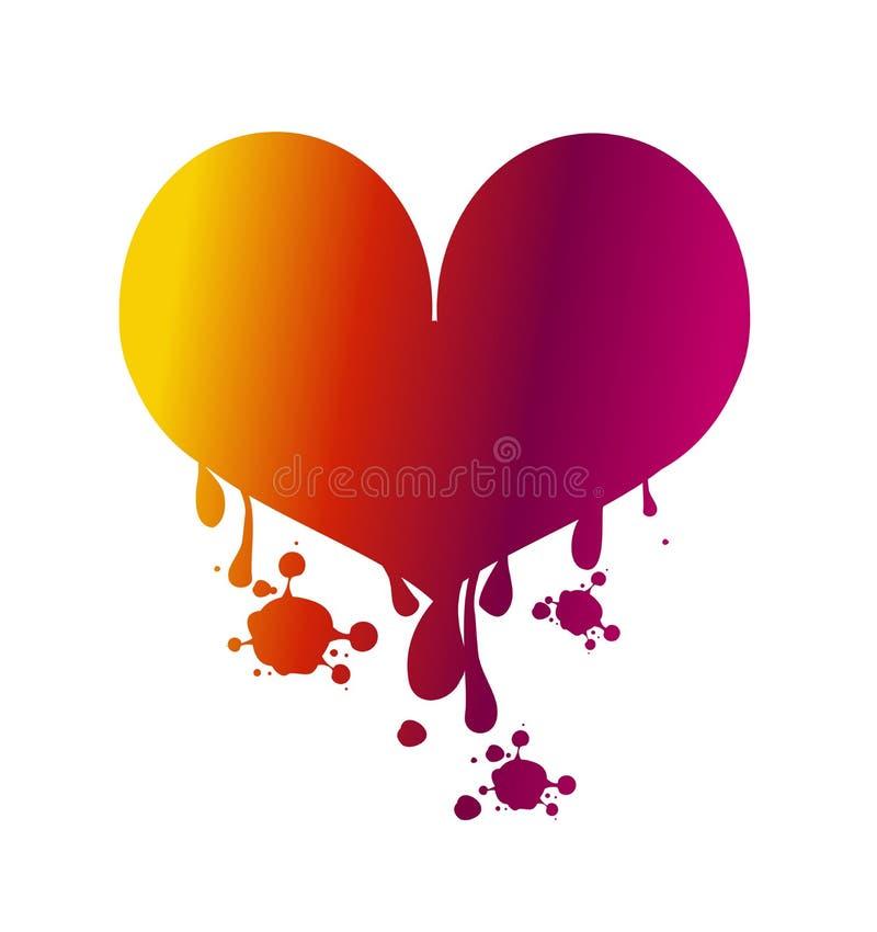 爱心脏出血 皇族释放例证