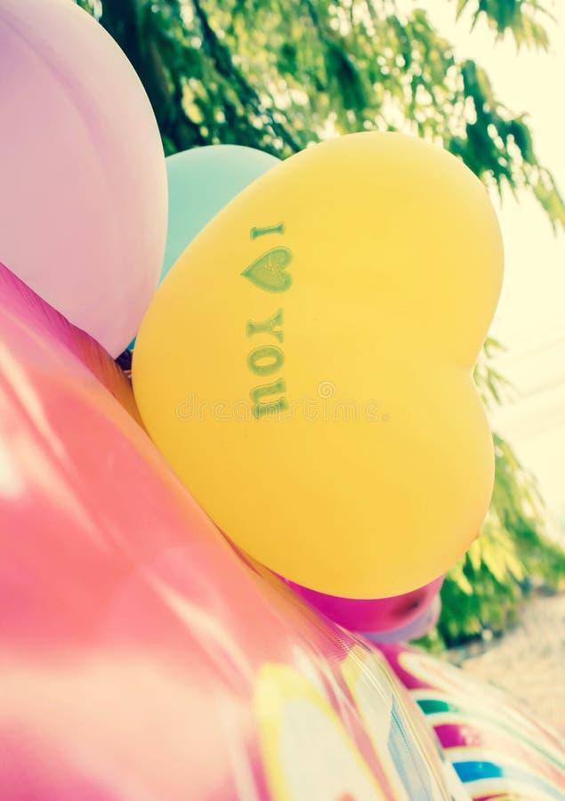 爱心脏气球 图库摄影