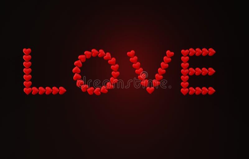 爱心脏3D照片 免版税库存照片