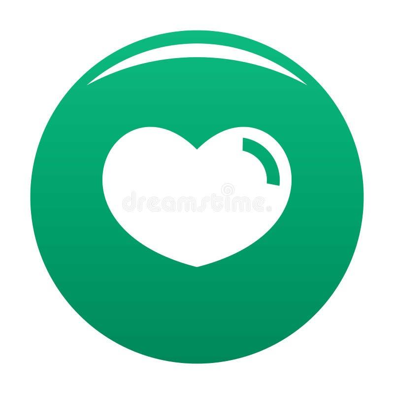 爱心象传染媒介绿色 库存例证