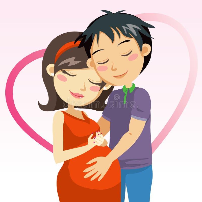 爱怀孕 向量例证