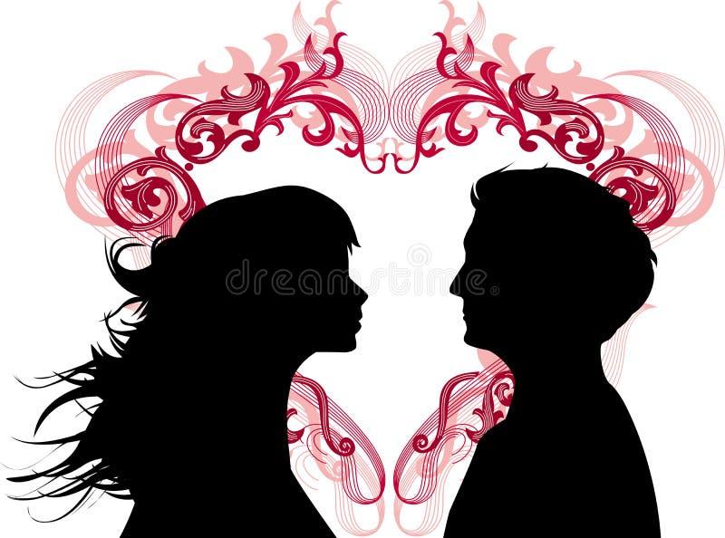 爱恋的人妇女 向量例证