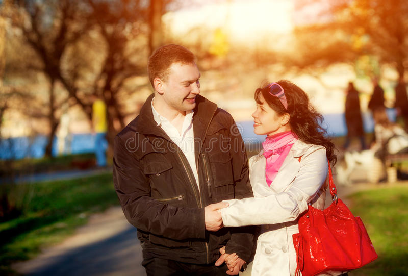 爱恋的夫妇 库存照片