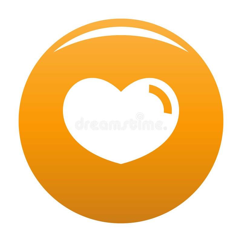爱恋的心脏象桔子 皇族释放例证