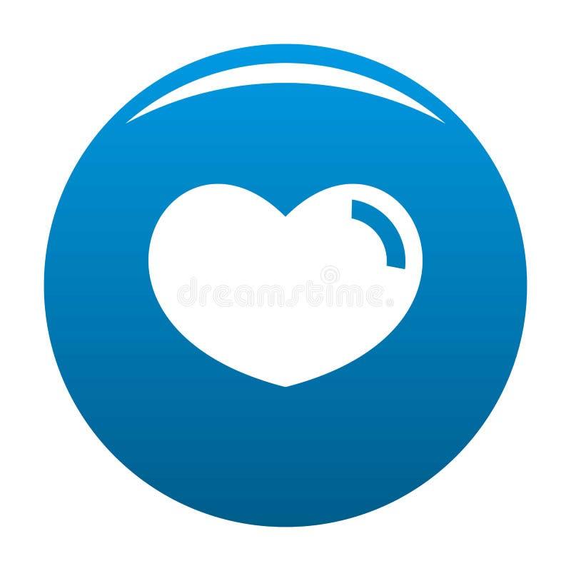 爱恋的心脏象蓝色 皇族释放例证