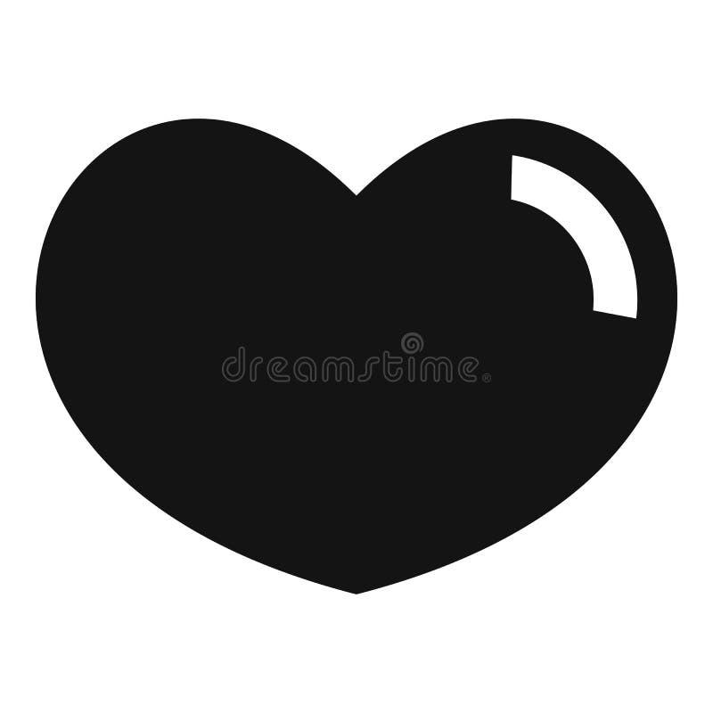爱恋的心脏象,简单的样式 向量例证