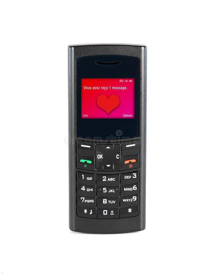 爱恋的电话 库存图片