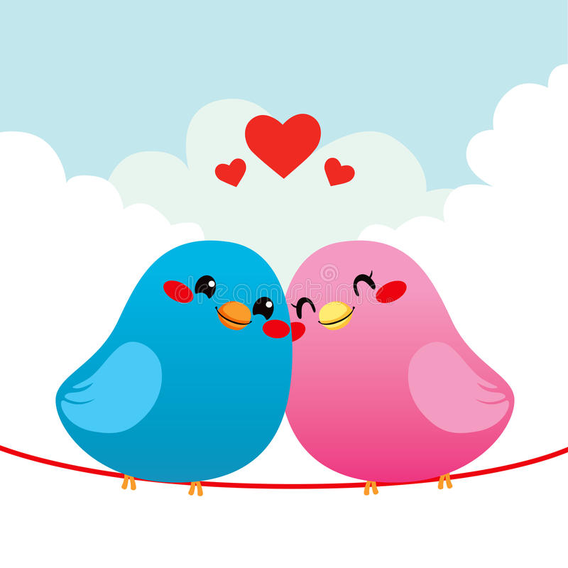 爱恋的鸟夫妇 皇族释放例证