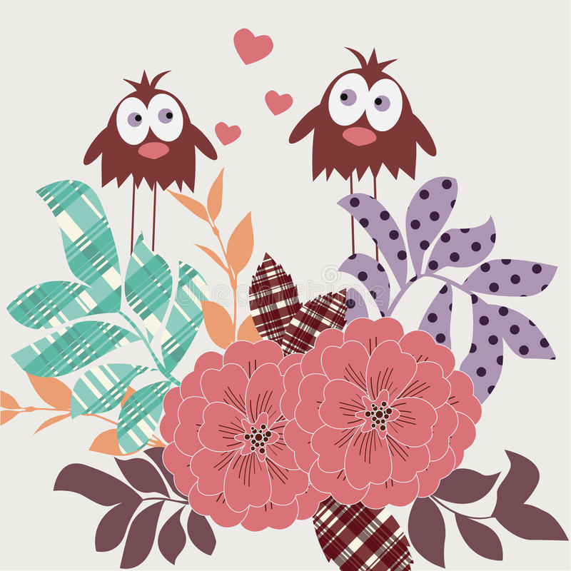 爱恋的鸟 向量例证