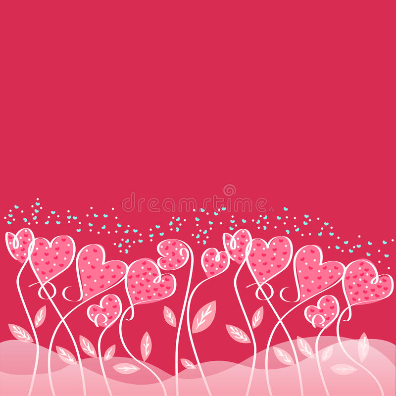 爱情人节卡片设计  库存例证