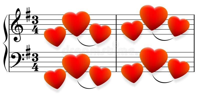 爱情歌曲心脏 皇族释放例证