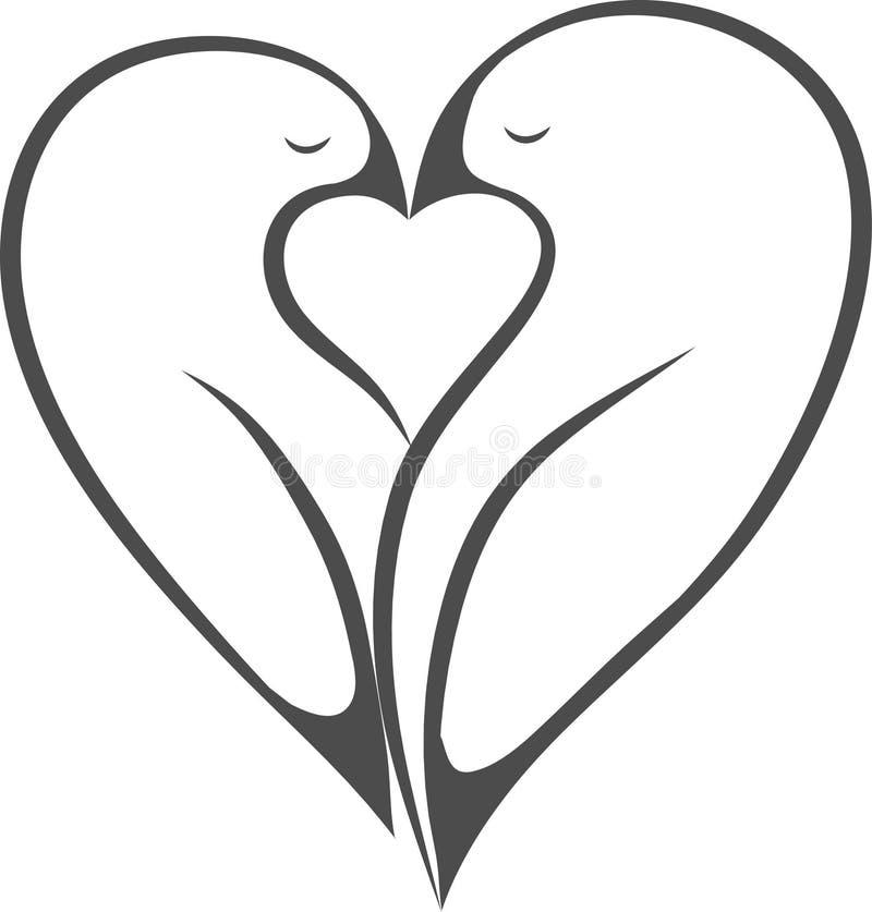 爱情鸟象图象 向量例证
