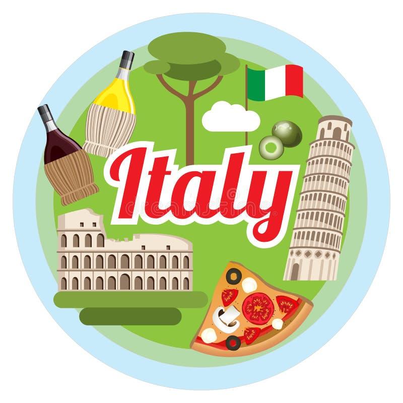 爱意大利概念 库存例证