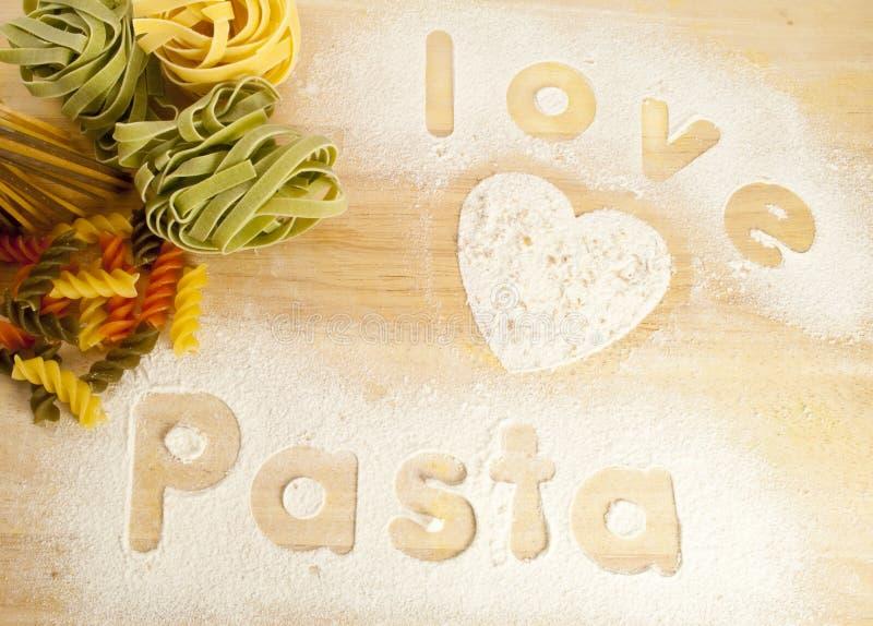 爱意大利面食 库存照片