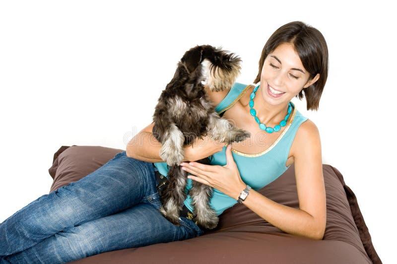爱我的小狗 免版税库存照片
