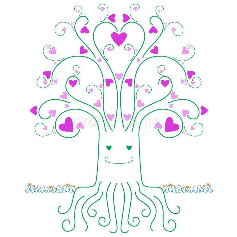 爱护树木 向量例证
