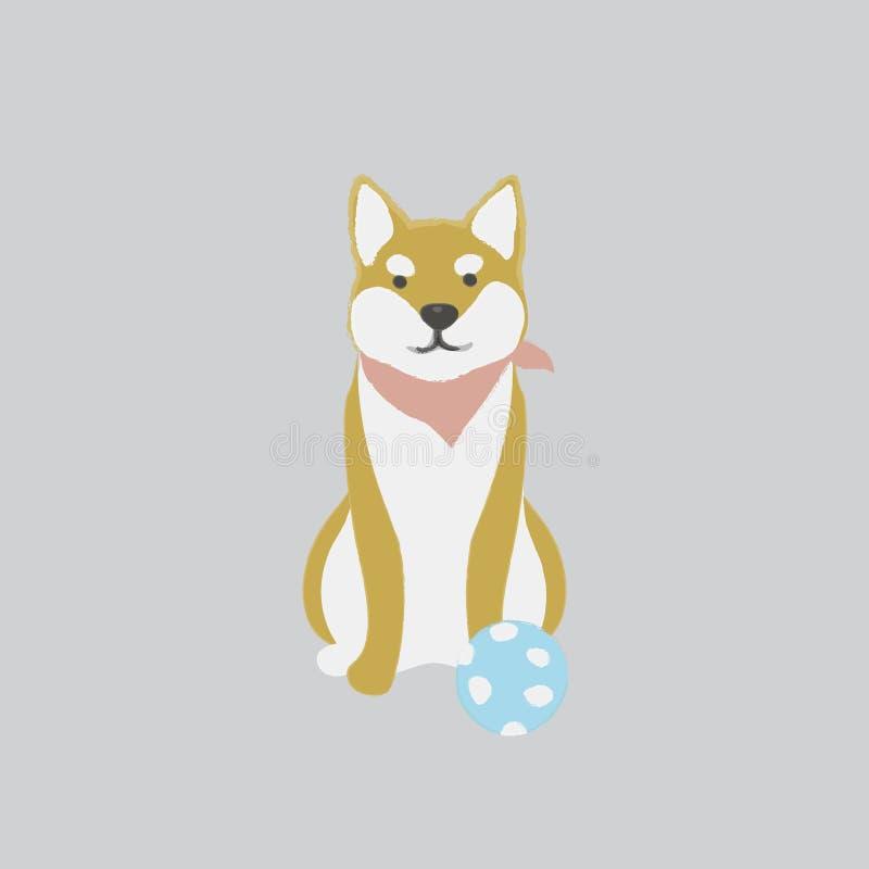 爱拥抱小狗的例证 库存例证