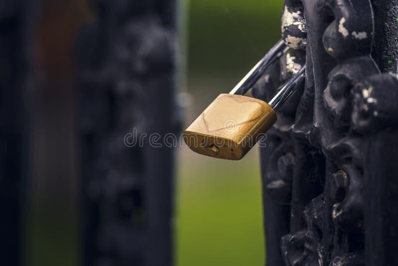 爱挂锁与心脏的 库存照片