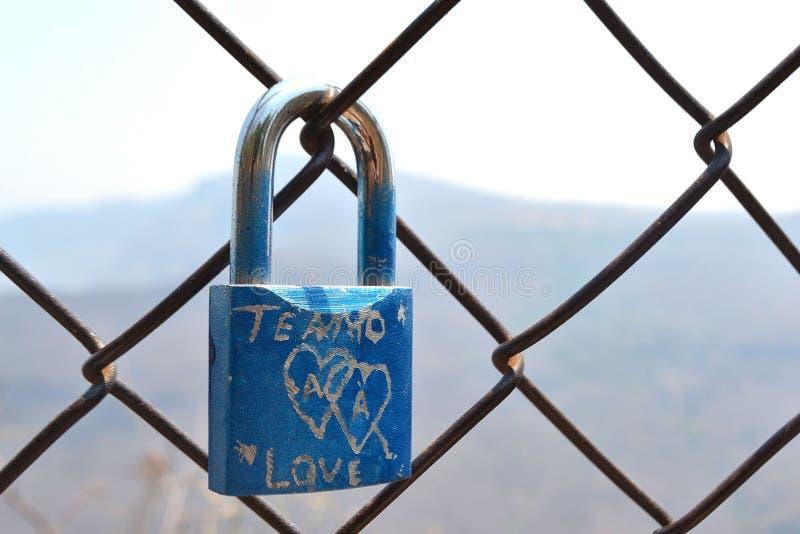 爱挂锁 库存照片