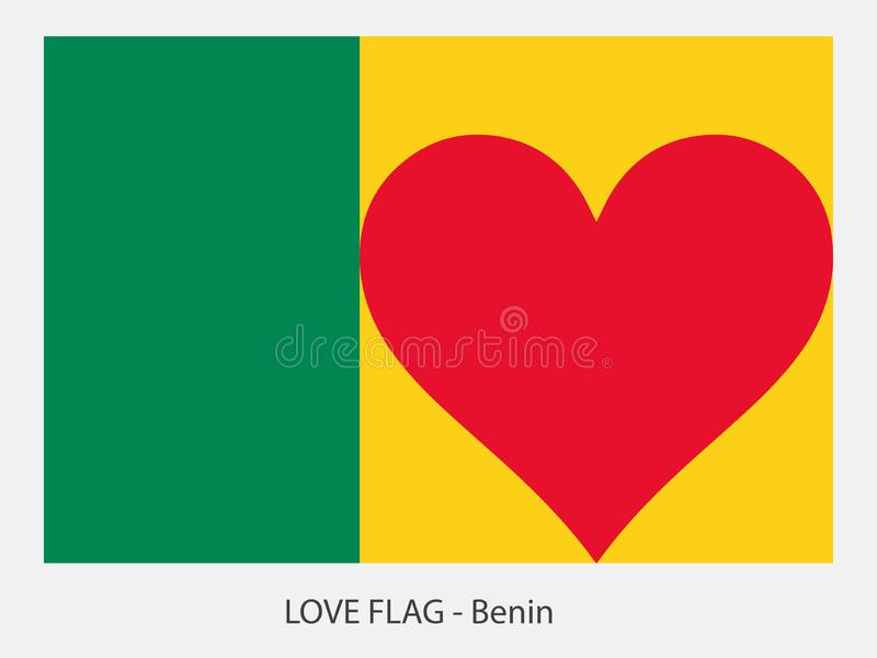 爱旗子贝宁 向量例证