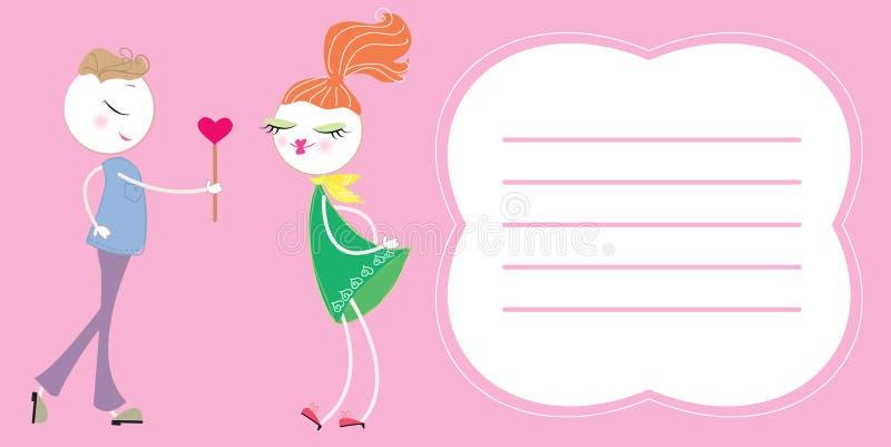 爱明信片文本向量 向量例证