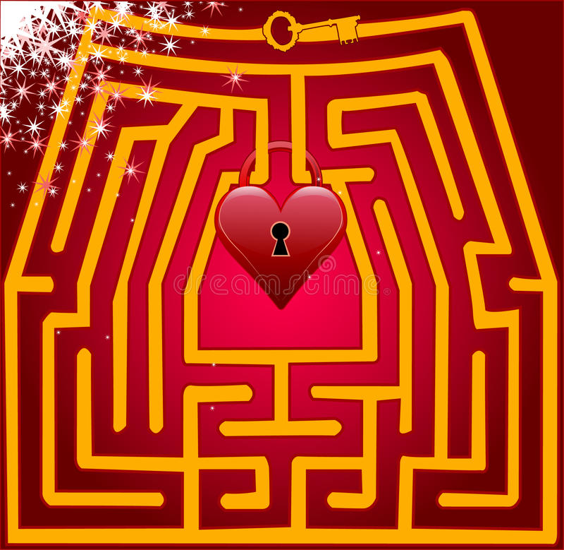 爱明信片迷宫。 情人节