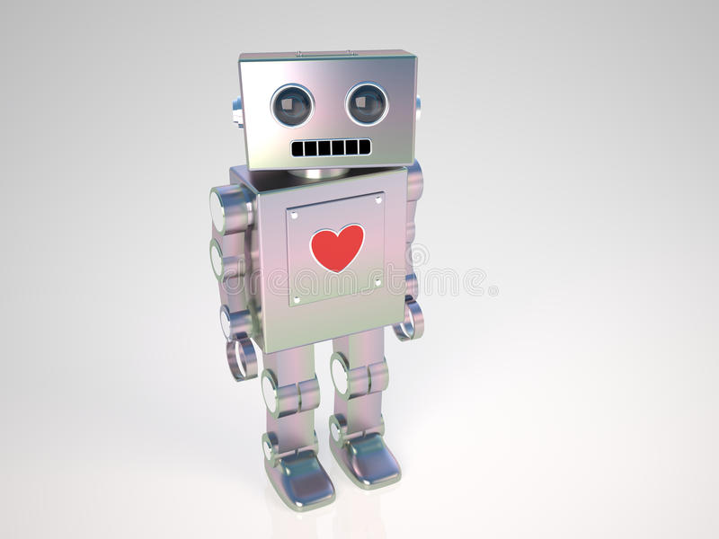 爱机器人 皇族释放例证