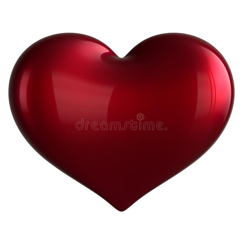 爱标志心形经典红色理想的空白的情人节 库存例证