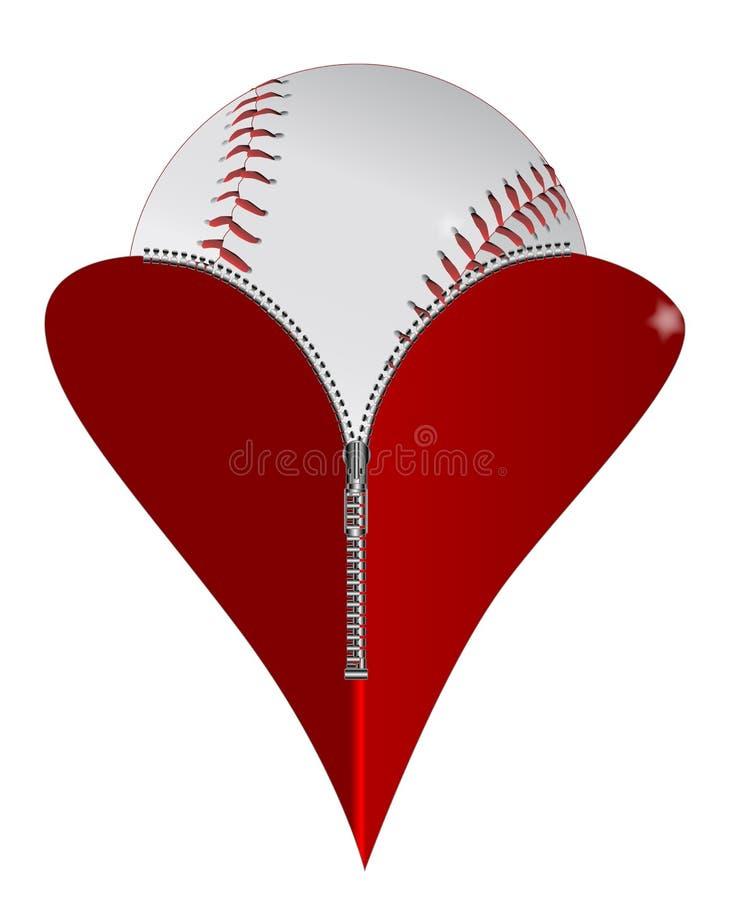爱棒球 库存例证
