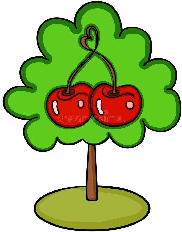 爱樱桃树 向量例证