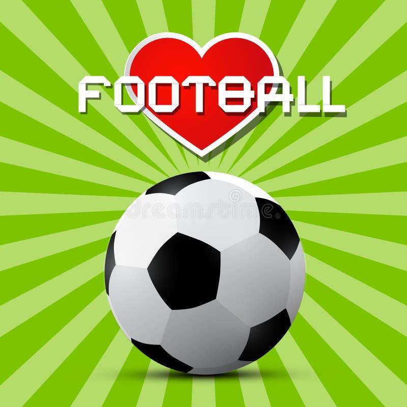 爱橄榄球题材 向量例证